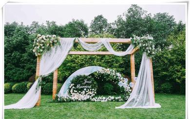 【述说婚礼】小场景白绿色纱缦婚礼