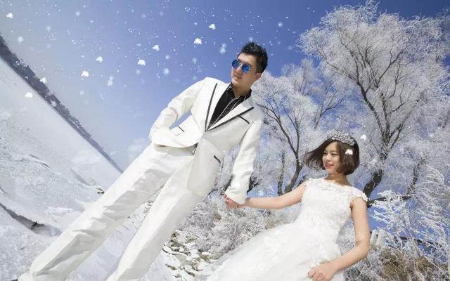 我们一起走过飘雪的季节 雾凇婚纱照