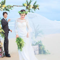最爱婚纱摄影高性价比|深圳玫瑰海岸摄影基地