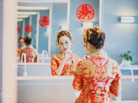 【推荐】艾丽美妆资深总监时尚新娘全天跟妆+亲友妆
