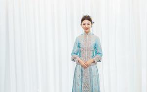 中式嫁衣•蓝色潮褂