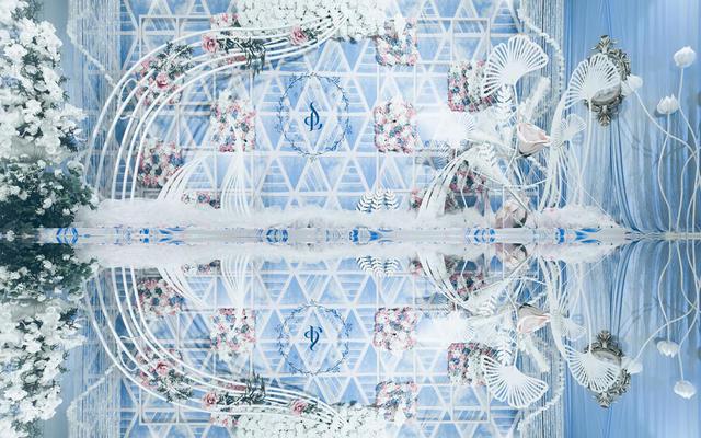 神话婚礼丨菱蓝丨线条丨纯净