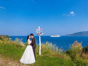 普吉岛简约唯美沙滩婚纱照