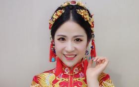 客片试妆照:中式秀禾,温婉典雅