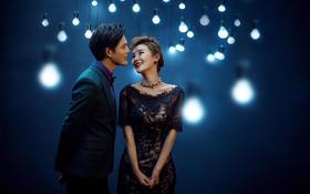 【自然风】清冷灯光下的魅惑夜景婚纱照