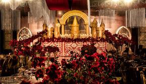【花海阁套餐】红金色欧式复古城堡风