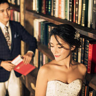 【全包价领劵立减100】韩式唯美婚纱照教堂花海