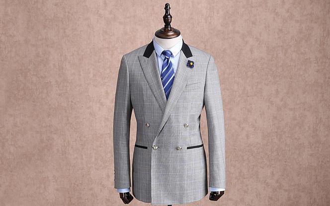 红领西服高级定制—灰色英伦风套装