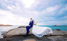 仙人湾客照--三亚贝拉印象婚纱摄影