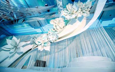 天旨力合婚礼-蓝色小清新简约优雅风