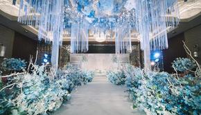 静谧蓝.追梦|星级酒店超值小预算打造超精致婚礼