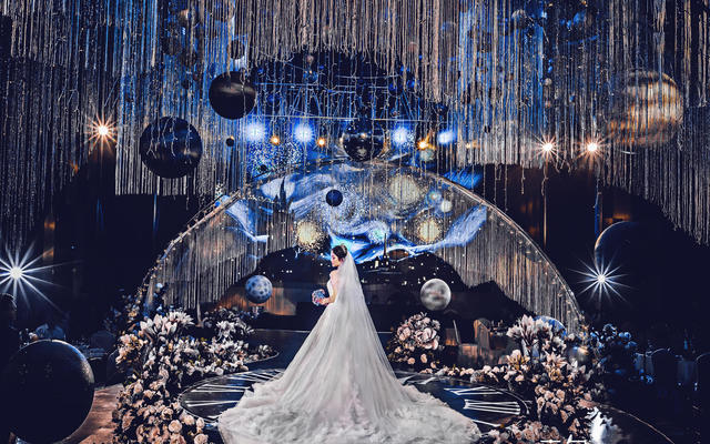 【喜尔婚礼】光年宇宙星空主题宴会婚礼 手可摘星辰