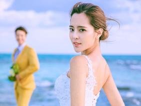 青岛名爵国际轻奢海景婚纱照