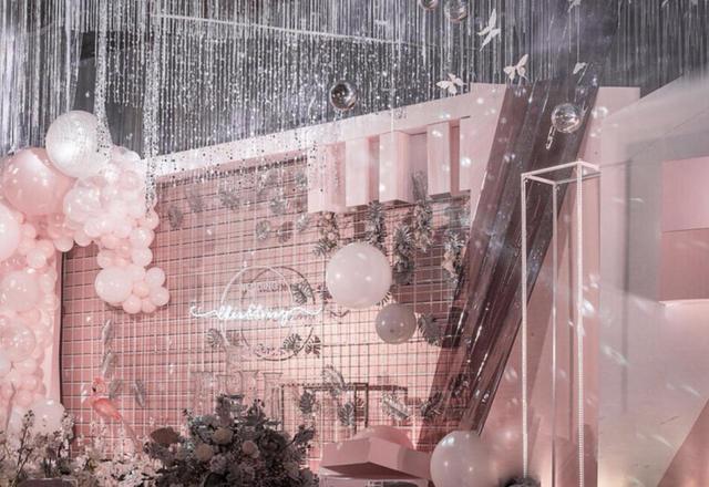 粉色浪漫火烈鸟ins风流行元素婚礼