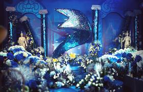 新郎为自己主持了一场关于美人鱼传说的婚礼