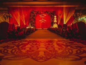 珮珣大红色喜庆传统中式婚礼布置