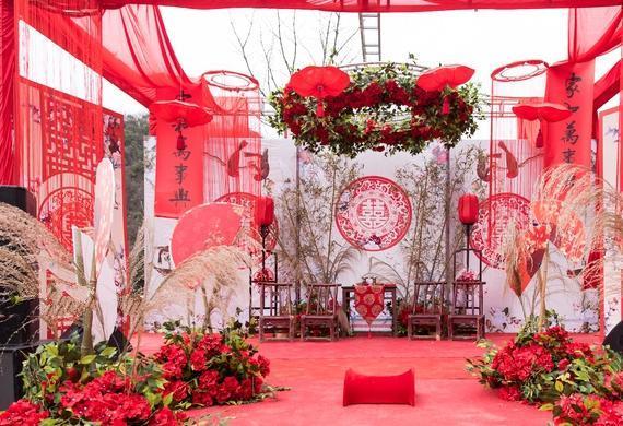农村大院,家门口的中式婚礼