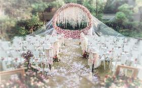 -蜜途婚礼-户外粉色系-唐顿庄园