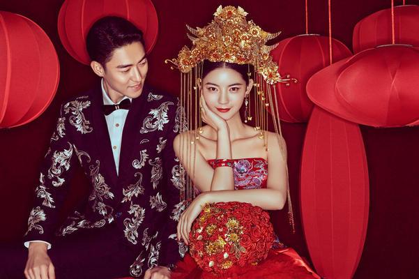 中式【中国风】内景婚纱照
