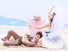 蜜恋婚纱摄影 浪漫沙难系列婚纱照