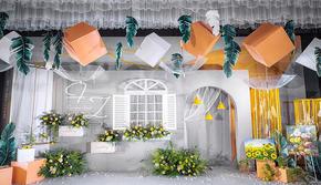 长沙维尔纳婚礼  白绿+橙色点缀