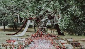 「喜字旁」户外草坪婚礼-小清新 小预算