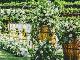 和韵.绿色森系 户外小清新 白绿色原生态婚礼