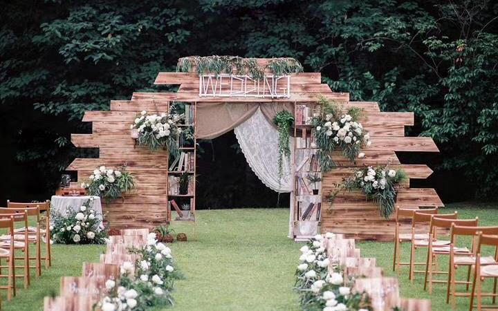 浪漫小清新的森系草坪婚礼