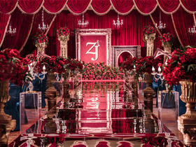 【乐达婚礼】——复古红色主题婚礼布置
