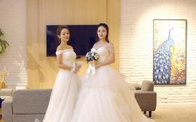 两小无猜的闺蜜,相约一起踏进婚礼的殿堂