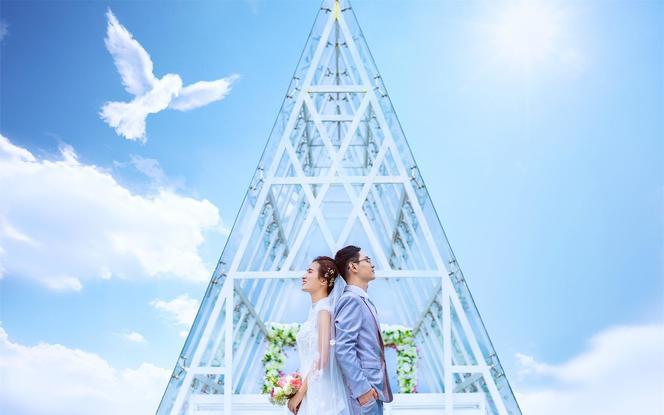 海誓山盟【凤凰岭景区婚拍】水晶教堂+环海礁石群