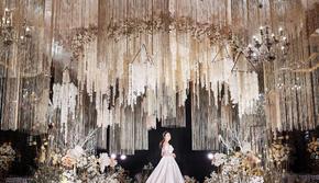 唯美定制香槟色婚礼,当季爆款+繁花布景全搞定
