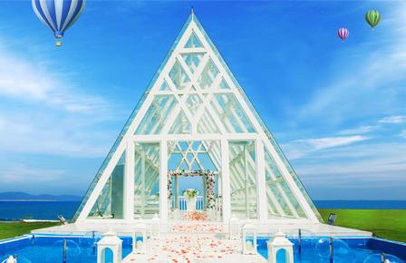 三亚半山半岛水晶教堂婚礼