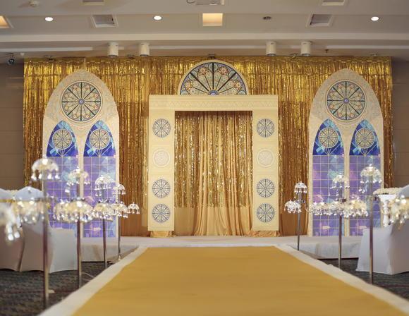 御花园酒店金色轻奢欧式教堂风小型温馨婚礼