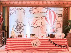 唯美温馨热气球主题婚礼布置图