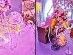 """""""天使之城""""紫色主题婚礼设计鲜花套餐"""