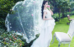 洛丽塔皇室系列-前短后长蕾丝婚纱