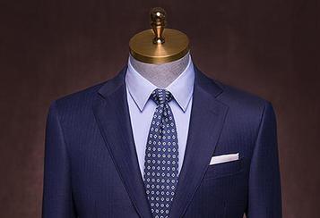 丹特 蓝色暗条纹西服套装