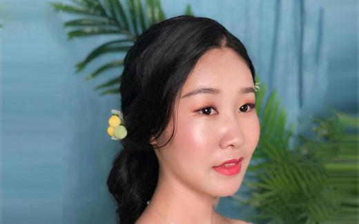 艾丽美美妆高级化妆师优雅新娘试妆照分享