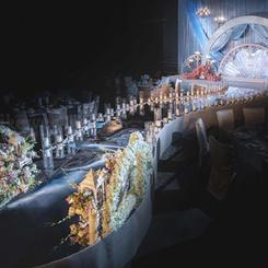 韩式蒂芙尼蓝婚礼布置