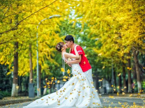 【诺汐视觉】美美的金秋银杏校园青春风婚纱照
