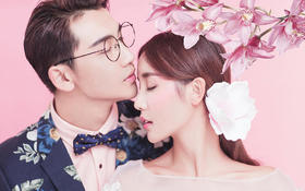 【纽约&主题】韩式花墙唯美婚纱照