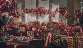 轻奢风红白色系 适合大场面的质感婚礼