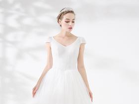【婚纱礼服】NSN BRIDAL公主风高腰A摆蓬裙