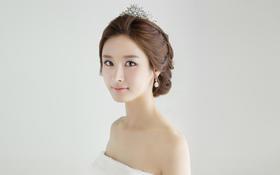 韩式中长发新娘造型欣赏客片四