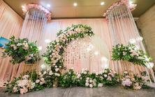 【雅媛婚礼】小众婚礼低预算粉色婚礼布置+四大金刚