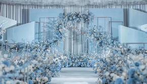 【2020限时5折特惠】莫兰迪蓝色唯美风婚礼