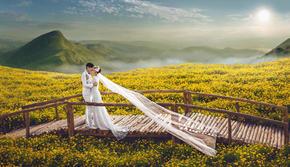 米兰春天【明星同款】 凤凰谷唯美韩式 送全新婚纱