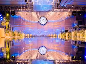 欧美主题婚礼路引满天星镜面T台