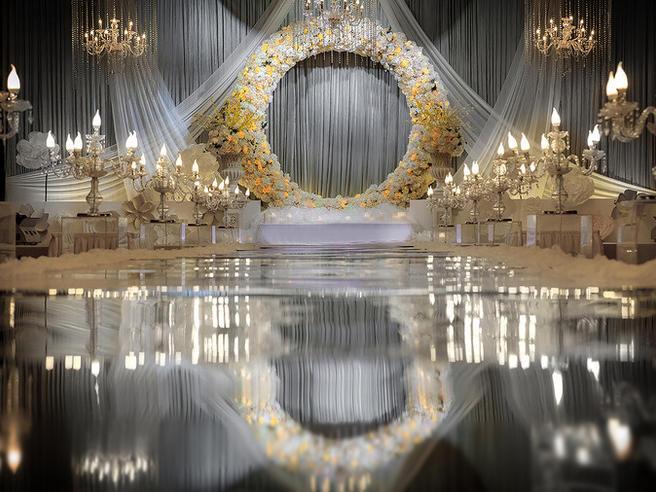 【蜜斯婚礼】——灰金轻奢风婚礼布置